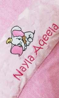 Dumbo the Elephant Pillow Husk Customized Name