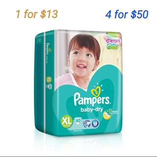 Pampers Baby Dry Diapers XL