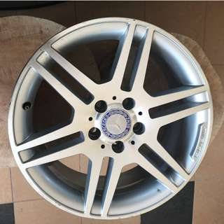 "W204 & S204 17"" STAGGERED RIMS ALLOY ET47 ET58 RIM"
