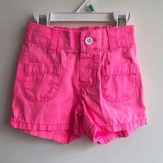 全新美國Carter's女童短褲2T~鬆緊褲頭