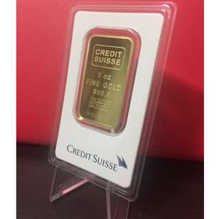 Credit Suisse 1oz .999 gold bar