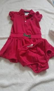 New without tag Ralph lauren dress with bloomer