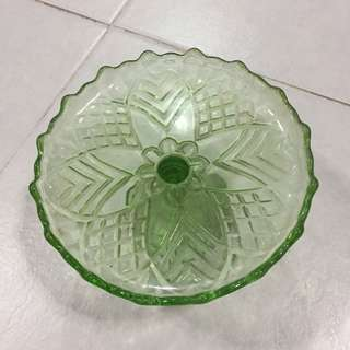 Vintage Footed glass plate