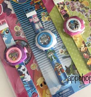 Toddles watch with projector images- goodies bag, goody bag gift, goodie bag packages or party door gift