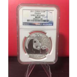 Panda 2011 1oz .999 silver