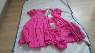 New with tag Ralph Lauren dress with bloomer
