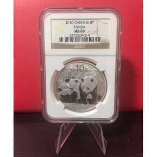 Panda 2010 1oz .999 silver