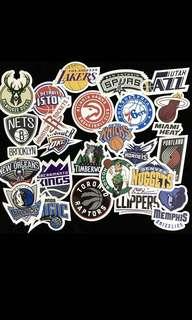 NBA Laptop/Luggage Stickers (30pcs)