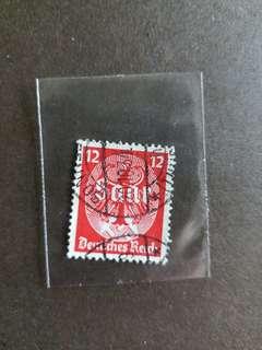 納粹德國郵票已銷郵票A001