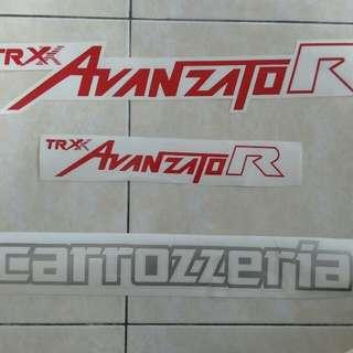 Mira Kancil Avanzato Stickers