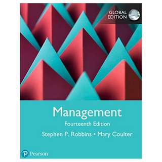 Management, 14th Global Edition by Stephen P. Robbins (Author), Mary A. Coulter (Author)