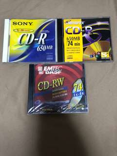 Blank CD-R and CD-RW