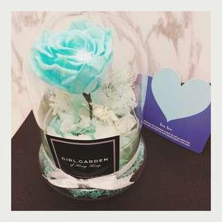 永生花🎉Tiffany blue 玫瑰花玻璃罩🌹