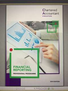SQP Financial Reporting 2018 (Professional Programme)