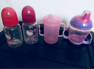 Baby bottles and trainer cups
