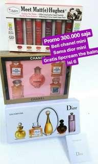[PROMO] Beli Parfume Mini Dior dan Chanel isi 5 FREE lipcream the Balm