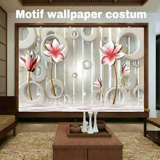 Wallpaper costum interior dinding