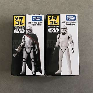starwars Tomy #11 Captain Phasma & #12 Clone Trooper