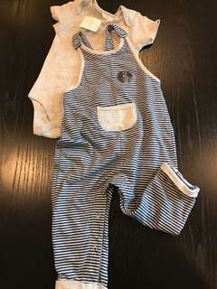 BNWT Next Baby 2-pc Dungaree Set for Boys