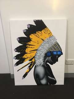 Native American Girl Canvas Painting