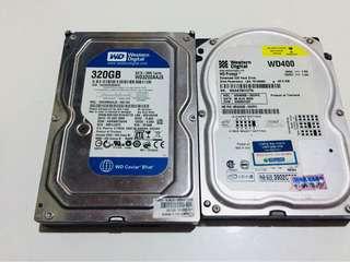 HDD 320 GB + 40 GB