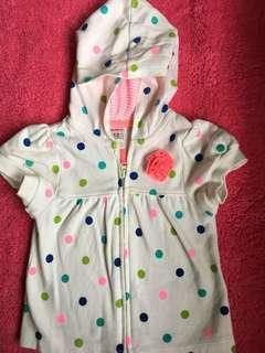 "Carter's polka dots shirt hoodie""REPRICE"""