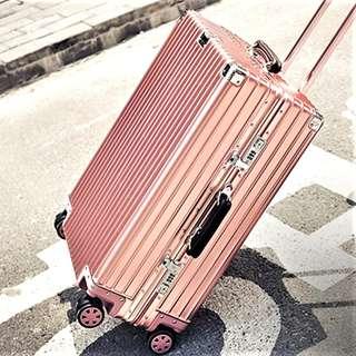 """📌Instock 84L 29"""" Rose Gold Aluminium Alloy Luggage"""