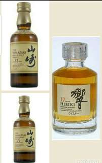 Trio of Japanese aged miniatures