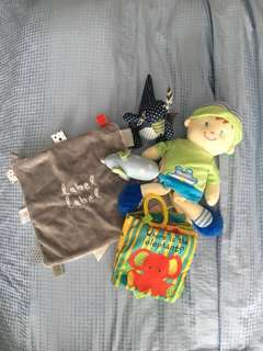 Assortment of cloth and soft toys