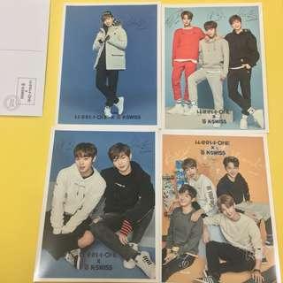 WTS WANNA ONE K-Swiss offcial postcard