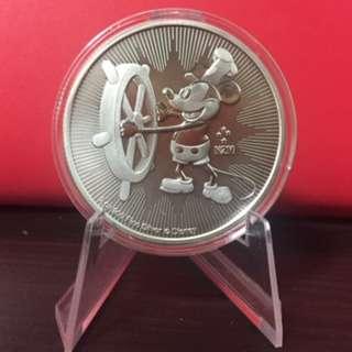 Disney Steamboat Willie 2017 1 oz .999 Silver