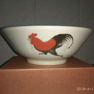 古董收藏公雞碗