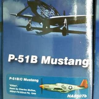 "Hobby Master 1/48 Air Power Series HA8507B P-51B/C Mustang ""Kitten"", Charles McGee, 302nd FS/332nd FG, 1944"