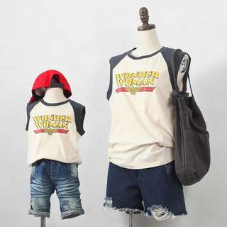 ☑️ INSTOCKS 3-15Y Kids Wonder Woman Shirt G21041B (Mother size available)