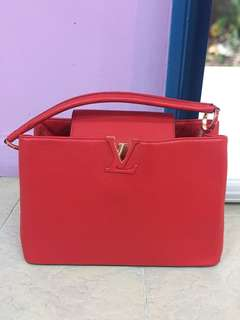Authentic Louis Vuitton Cappucines MM Red