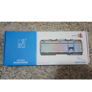 7 Color Light Metal USB Gaming Keyboard