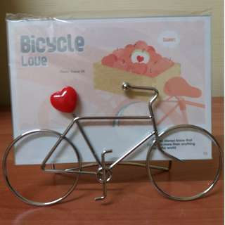 Table Top Photo Frame (Bicycle Love)