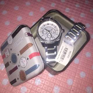 🌸 Fossil Stainless Steel Watch with Studs 🌸