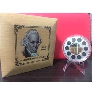 DANIEL GABRIEL FAHRENHEIT Thermometer Silver Coin
