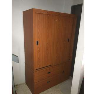 Sliding Cupboard with Mirror.
