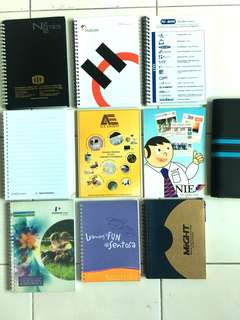 Notebooks (Set of 9) + FOC one hardcover