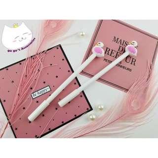 🕊#04.08.02-可愛系白色小天鵝黑色墨水筆🕊