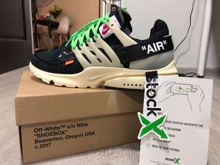 Nike x off white prestos the 10