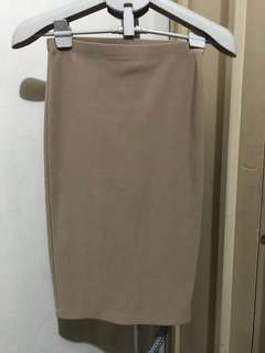 F21 a-line fitted skirt