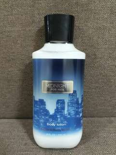 BATH and BODY WORKS MIDNIGHT BODY LOTION for Men