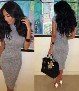 Grey Dress by Want My Look