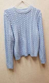 🚚 Gu 粉嫩藍 毛衣