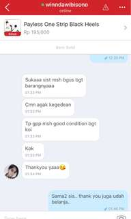 Testimoni payless one strip black , thank you for shopping