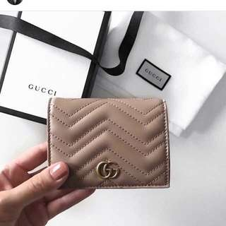 Gucci Marmont Mini Wallet in Nude Colour