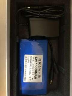 12v 15000mah lithium battery